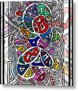 Portrait Of Giggling Colors Metal Print