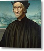 Portrait Of Girolamo Benivieni Metal Print