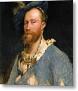 Portrait Of Gustave Courtois Metal Print