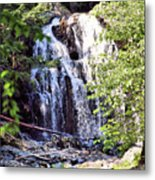 Portrait Of Houston Brook Falls Metal Print