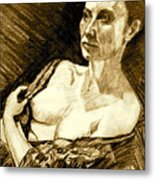 Portrait Of Jacqueline Metal Print