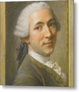 Portrait Of Jean Claude Gaspard Metal Print