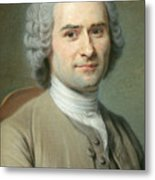 Portrait Of Jean Jacques Rousseau Metal Print