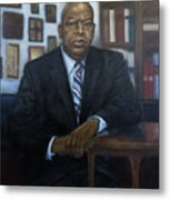 Portrait Of John Lewis Metal Print