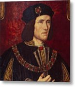Portrait Of King Richard IIi Metal Print by English School