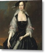 Portrait Of Lady Frances Courtenay Metal Print