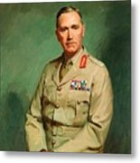 Portrait Of Lieutenant - General The Honorable Sir Edmund Herring Metal Print