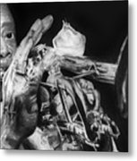 Portrait Of Louie Armstrong Metal Print by Carrie Jackson