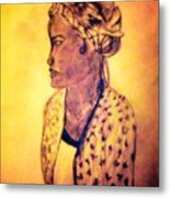 Portrait Of Lovely African Woman Metal Print