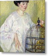 Portrait Of Madame Frieseke Metal Print