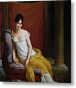 Portrait Of Madame Recamier Metal Print