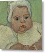 Portrait Of Marcelle Roulin Arles, December 1888 Vincent Van Gogh 1853  1890 Metal Print