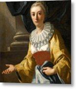 Portrait Of Maria Cavalcanti Ametrano Duchess Of San Donato Metal Print