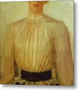 Portrait Of Maria Tolstaya Leo Tolstoy Daughter Metal Print