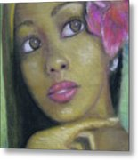 Portrait Of Monica Metal Print