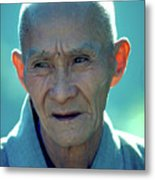 Portrait Of Monk In China Metal Print
