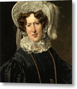 Portrait Of Mrs Wartfeld Metal Print
