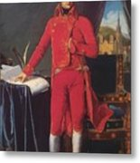 Portrait Of Napolan Bonaparte The First Council 1804 Metal Print