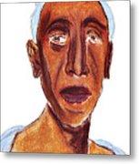 Portrait Of Old Man Metal Print
