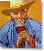 Portrait Of Patience Escalier Metal Print