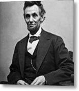 Portrait Of President Abraham Lincoln Metal Print by International  Images