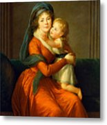 Portrait Of Princess Alexandra Golitsyna And Her Son Piotr Metal Print