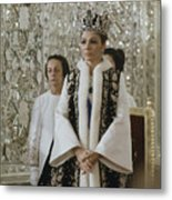 Portrait Of Queen Farah Pahlavi Dressed Metal Print by James L. Stanfield