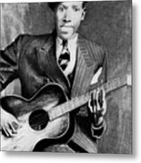 Portrait Of Robert Johnson Metal Print
