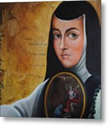 Portrait Of Sor Juana Ines De La Cruz Metal Print