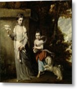 Portrait Of The Ladies Amabel And Mary Jemima Yorke Metal Print