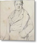 Portrait Of The Painter Charles Thevenin Director Of The Academy Of France In Rome Metal Print