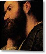 Portrait Of The Poet Pietro Aretino Metal Print
