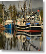 Portrait Of The Ucluelet Trawlers Metal Print