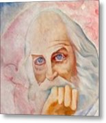 Portrait Of The Us-american Poet Walt Whitman Boris Grigoriev Metal Print