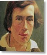 portrait of the young Arnold Bocklin Metal Print