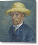 Portrait Of Theo Van Gogh Paris, Summer 1887 Vincent Van Gogh 1853  1890 Metal Print