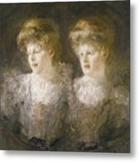 Portrait Of Two Ladies Metal Print