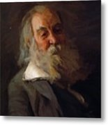 Portrait Of Walt Whitman 1887 Metal Print