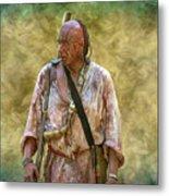 Portrait Of Warrior Bushy Run Metal Print
