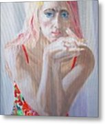 Portrait Of Young Lady Metal Print