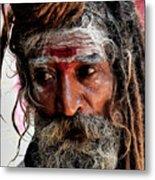 Portrait On The Ganges Metal Print