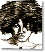 Portrait Or A Young Woman Metal Print