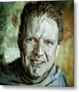 Portrait Painting Cinematographer Camera Operator Behind The Scenes Movie Tv Show Film Chicago Med Metal Print