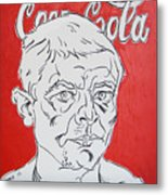 Portrait With Coca Cola Metal Print