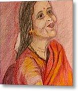Portrait With Colorpencils Metal Print