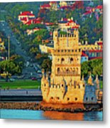 Lisbon Belem Tower From The River Metal Print