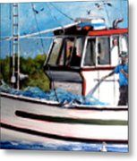 Portuguese Fishing Boat Metal Print