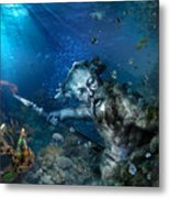 Poseidon Metal Print by Marc Huebner