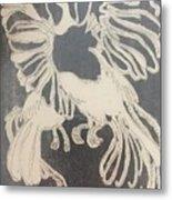 Positive Negative Birds  Metal Print