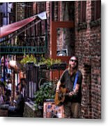 Post Alley Musician Metal Print